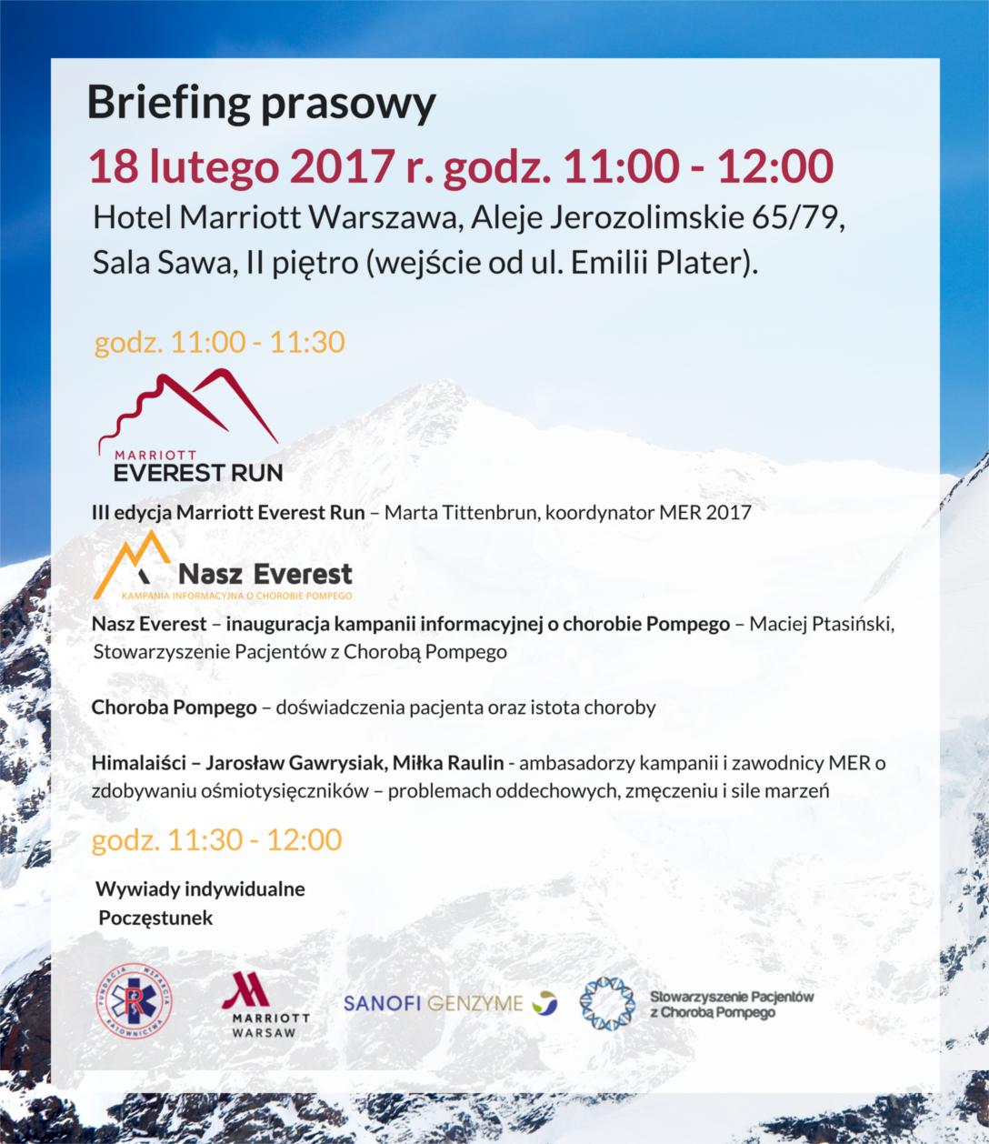 Zaproszenie briefing MER Nasz Everest